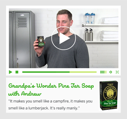 Grandpa's Wonder Pine Tar Soap with Andrew