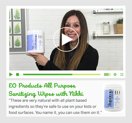 EO Products All Purpose Sanitizing Wipes with Nikki
