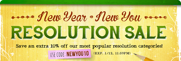 New Year Resolution Sale