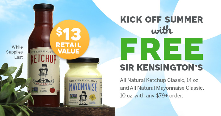 Sir Kensington Free Ketchup & Mayo Memorial Day Sale