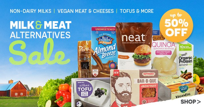 Milk & Meat Alternatives Sale