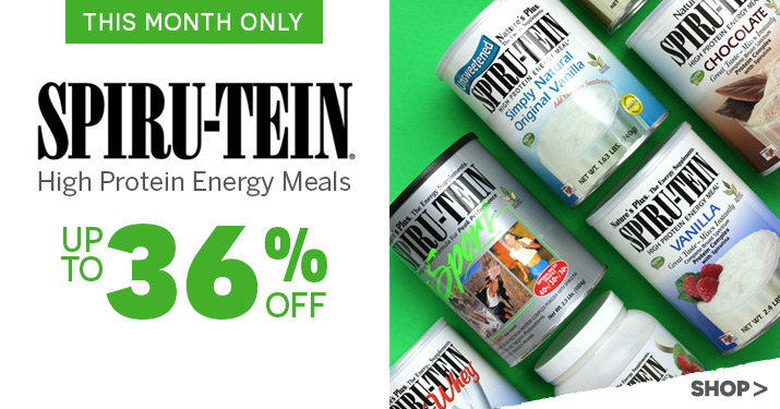 Nature's Plus Spirutein Sale