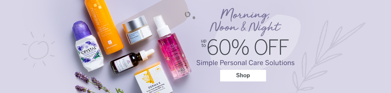 Up to 60% off simple personal care solutions